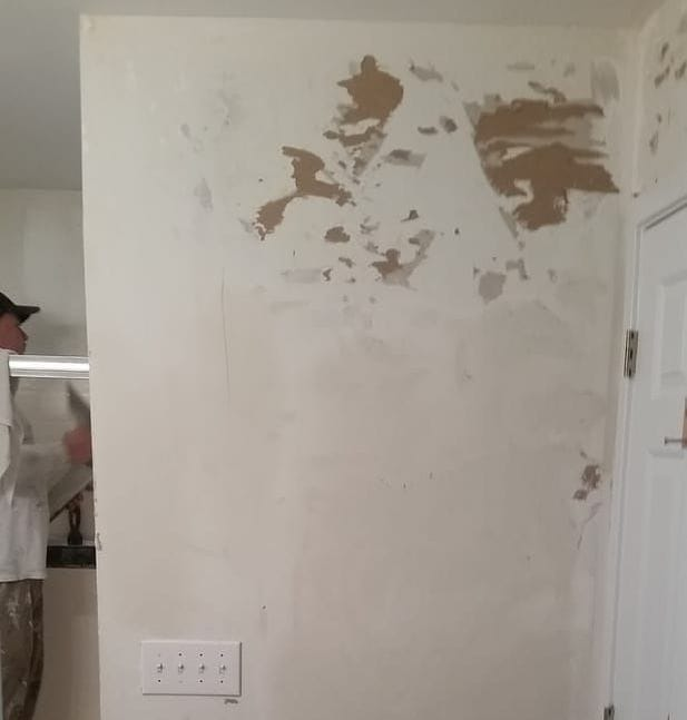 Most Of The Time Taking Wallpaper Down Is Actually Easy Part Its Getting Wall Ready To Paint Afterwords That Can Be Tricky